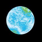 Das globale Wetter, die Konvektionsströmungen in der Atmosphäre, sind diesen Strukturen ähnlich. Pigmentdruck